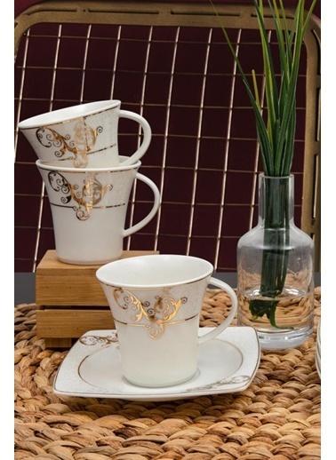 Güral Porselen Güral Porselen Caroline Kahve Fincan Takımı 12 Parça GBSCR12KT8305430 Renkli